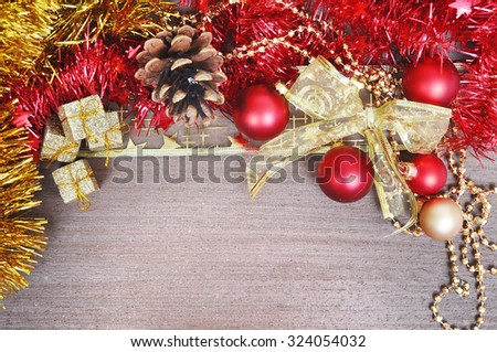 Christmas decorations with a copy-space - stock photo