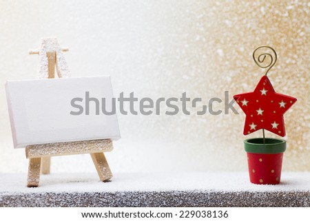 Christmas decorations with star. Christmas greeting card. - stock photo