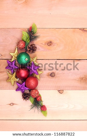 Christmas design with open space for design - stock photo