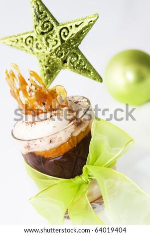 Christmas dessert - stock photo