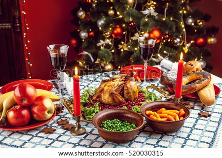 Christmas Dinner By Candlelight Table Setting Stock Photo (Safe to Use) 520030315 - Shutterstock & Christmas Dinner By Candlelight Table Setting Stock Photo (Safe to ...