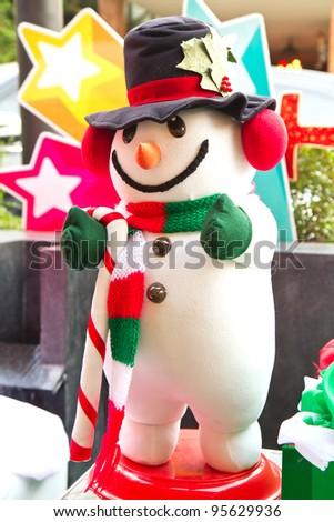 christmas doll - stock photo