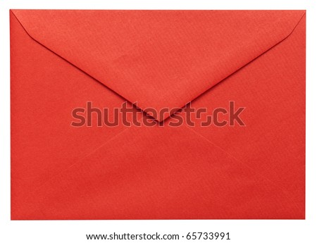 Christmas envelope - stock photo