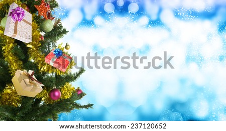 Christmas eve tree with Gifts - stock photo