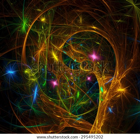 Christmas Fantasy abstract illustration - stock photo