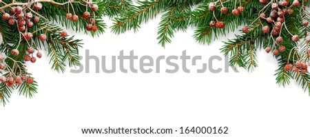 Christmas frame - stock photo