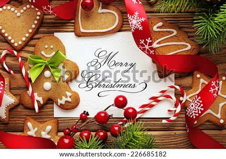 christmas frame background - stock photo
