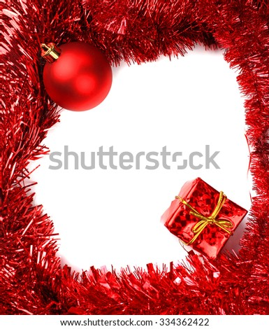 Christmas frame with free space for text