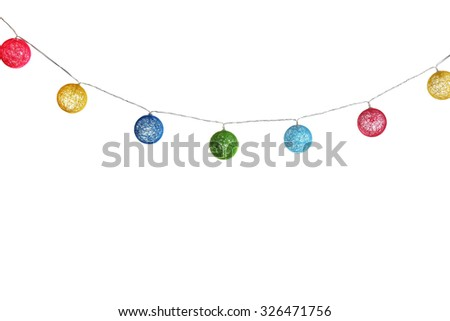 Christmas garland isolated on white - stock photo