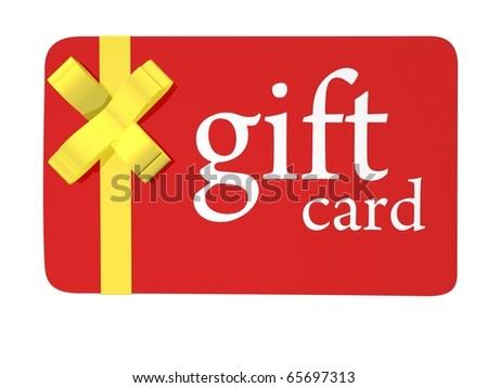 Christmas Gift Card - stock photo