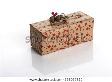 Christmas gift, Christmas presents, gifts, claus, Christmas trees  - stock photo