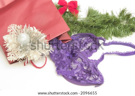 Christmas Gift of Lavender Teddy for someone's sweetheart - stock photo