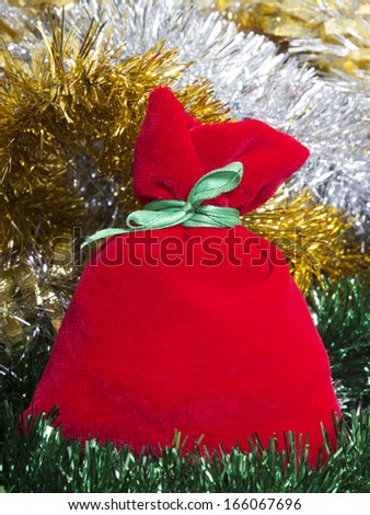 Christmas gift on Christmas background  - stock photo