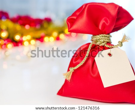 Christmas gift on the holiday background - stock photo