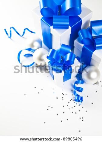Christmas gift set - stock photo