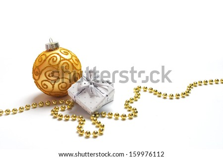Christmas gifts and decorations - stock photo
