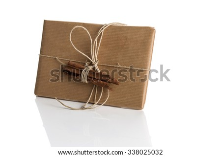 Christmas gifts, Christmas decorations, December 6  - stock photo