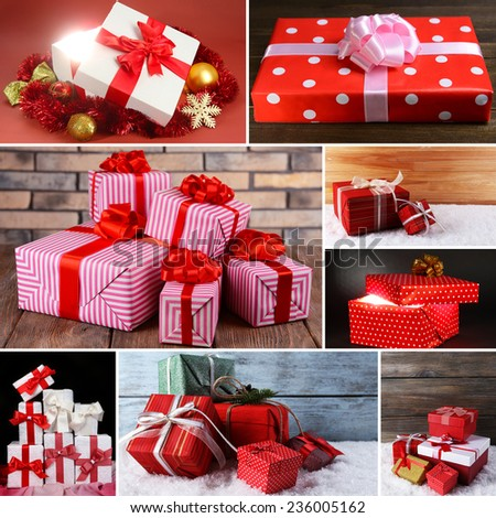 Christmas gifts collage