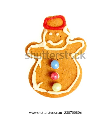 Christmas gingerbread snowman