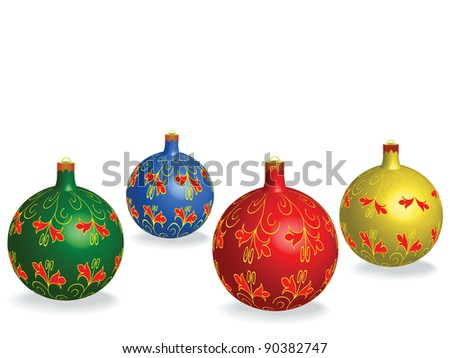 Christmas globe isolated - stock photo