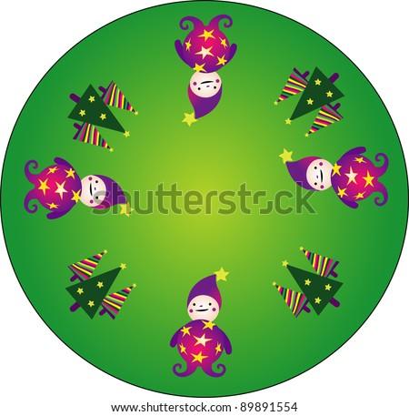 christmas gnomes - stock photo