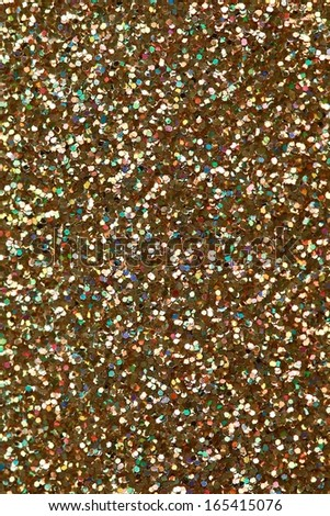 Christmas Gold Glitter background. Holiday abstract texture  - stock photo