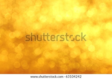 Christmas golden background. - stock photo