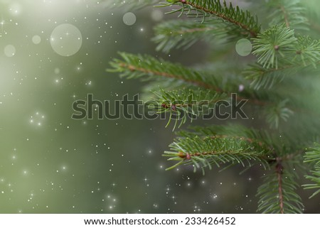 Christmas green background - stock photo