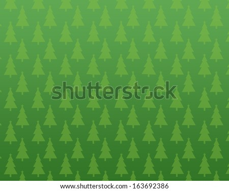 christmas green tree background - stock photo