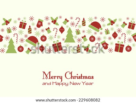 Christmas greeting card. Raster version