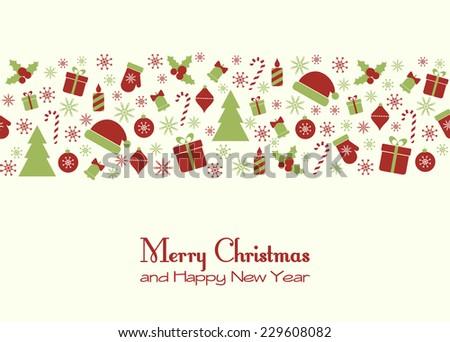 Christmas greeting card. Raster version - stock photo