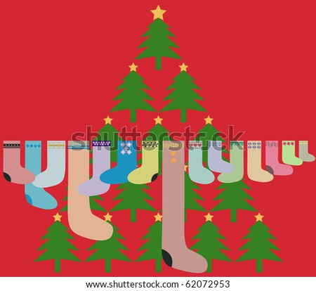 Christmas Greeting Card, vector also available
