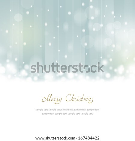 Christmas Greeting Card with place for text - stock photo