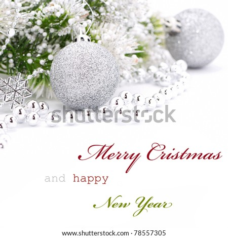 Christmas greeting card with text
