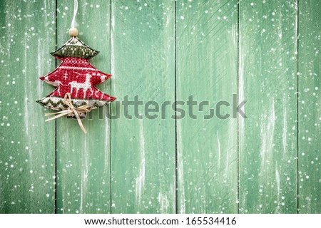 Christmas hanging decoration - stock photo