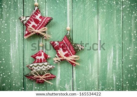 Christmas hanging decoration - stock photo