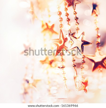 Christmas Holiday Abstract Background with Stars. Stars. Shallow DOF, Soft focus. - stock photo