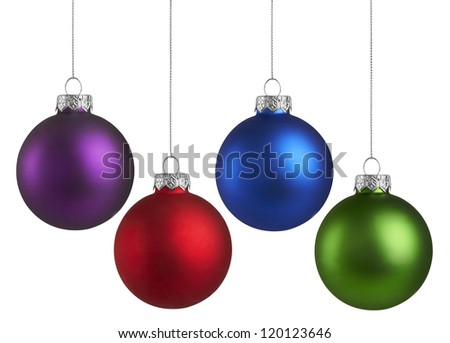 Christmas Holiday Balls - stock photo