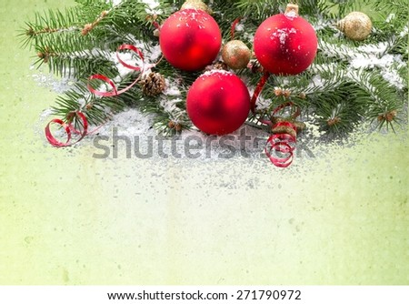 Christmas. Holiday Garland - stock photo