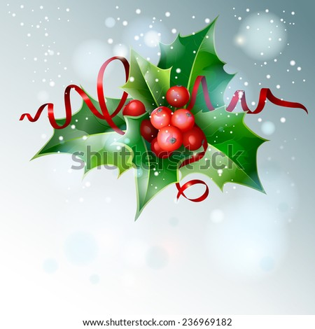 Christmas Holly.  - stock photo