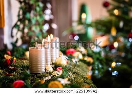 Christmas home decoration for Advent - stock photo