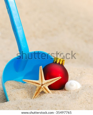 christmas in a warm weather climate - stock photo