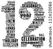 Christmas info-text graphics arrangement concept composed in number 12 shape on white background - stock