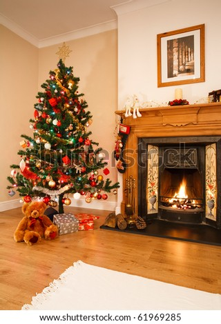 Christmas interior - stock photo