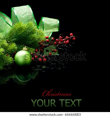 Christmas isolated on black - stock photo