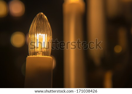 Christmas lamp with candles