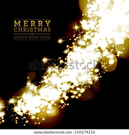 Christmas light background with snowflakes.  - stock photo