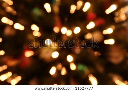 Christmas Light Bokeh - stock photo