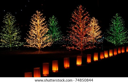 Christmas light display from Winterhaven, Tucson, Arizona - stock photo