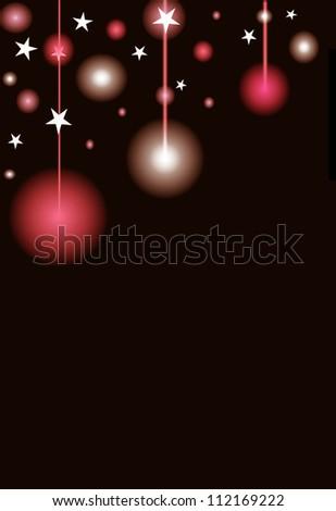 Christmas lights background - stock photo